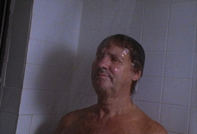 A man taking a shower