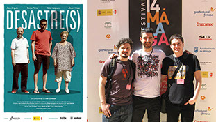 POster of the shortfall Desastre(s) and Iván Cortázar, Álvaro Vega y Daniél Cortázar at the Malaga Film Festival